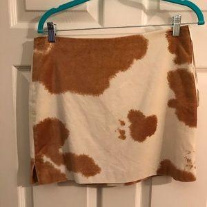 RL Trendy Cowhide Skirt